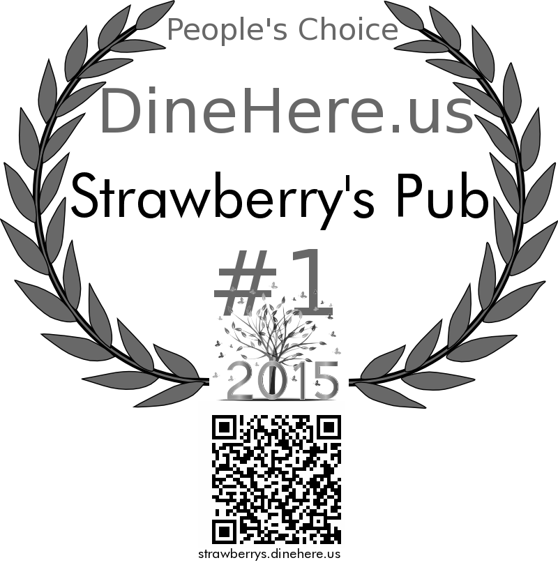 Strawberry's Pub DineHere.us 2015 Award Winner